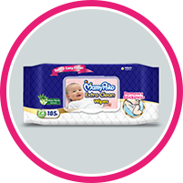 MamyPoko Pure & Soft Wipes Pop UP Box - 50