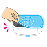 Open the bottom lid