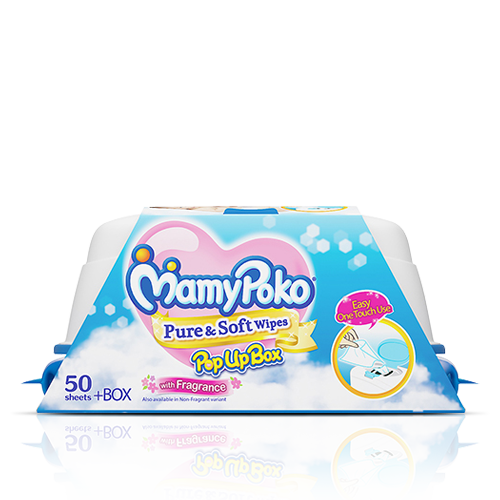 MamyPoko Pure & Soft Wipes Pop UP Box