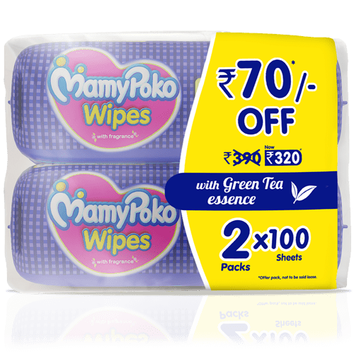 MamyPoko Wipes with Green Tea Essence