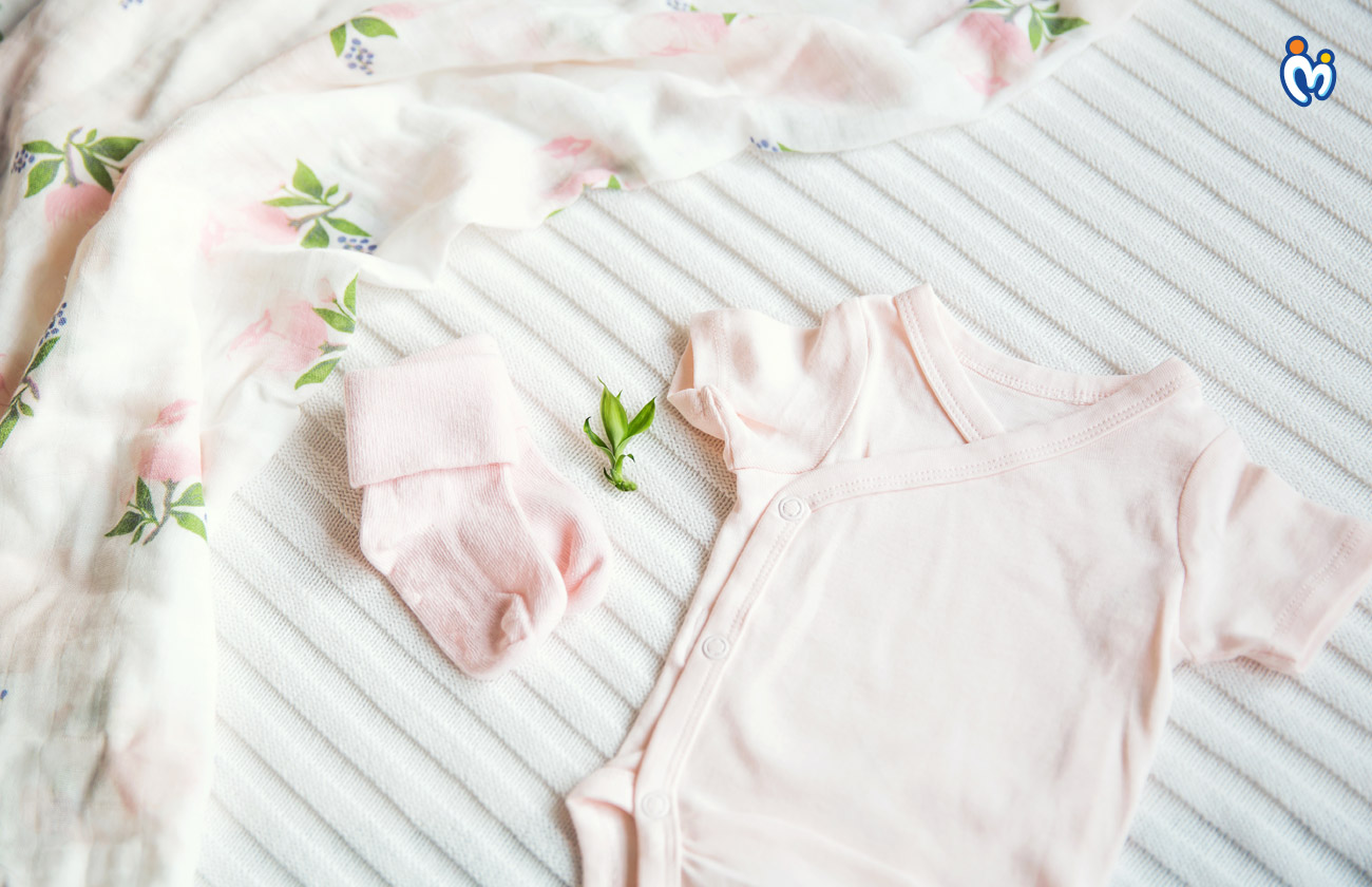 Bamboo rayon fabric perfect for an infant's sensitive skin