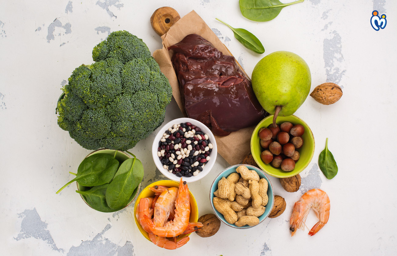 Folic acid or folate food helping the baby's brain and spinal cord develop